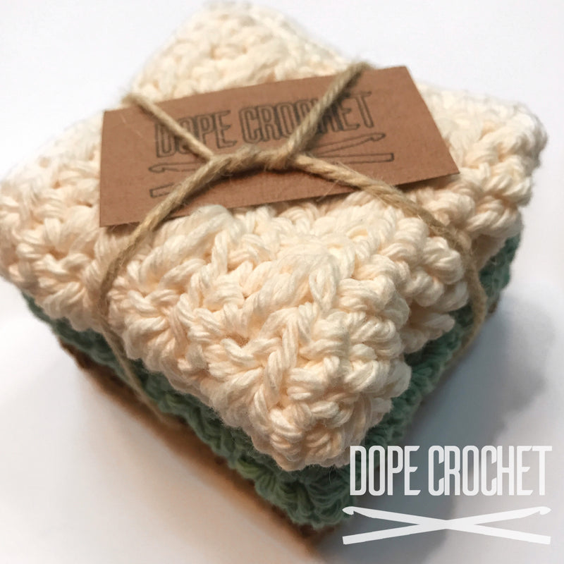 Crochet Washcloth - Set of 3