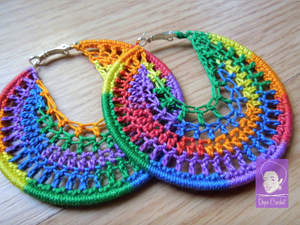 Rainbow Crochet Hoops