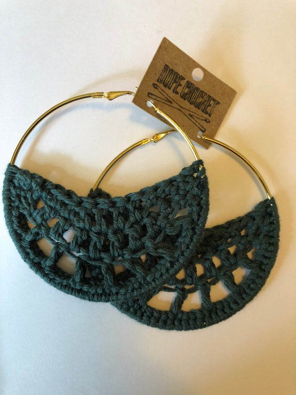 Sage PETRA Cotton Crochet Hoops