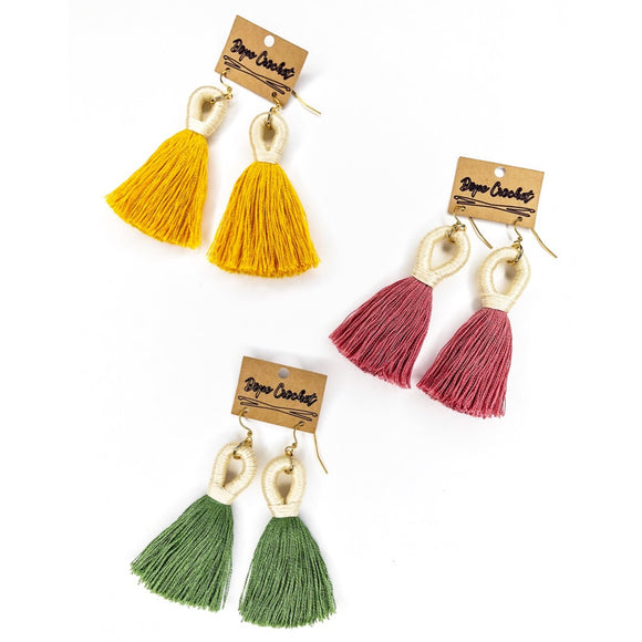 Tassel Earrings - Handmade Tassel Earrings - Tassels