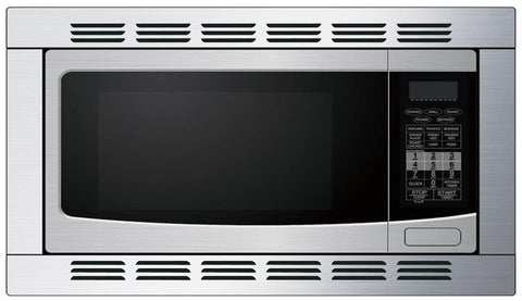 High Pointe 1.1 CU FT 1000-Watt Built-in Convection Microwave with Trim Kit - Stainless Steel EC028KD7-S