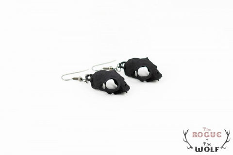 Black Cat Skull Earings