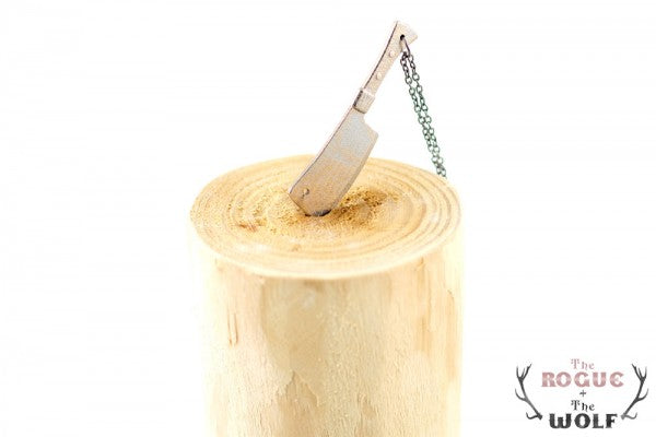 Steel Cleaver Necklace