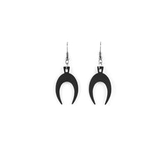 Lupus Earrings in Black