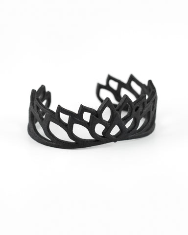 Reincarnation Mandala Cuff in Black