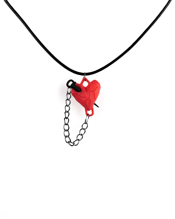 Stake Through The Heart Choker in Red