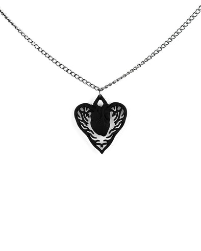 Love Hurts Necklace in Black