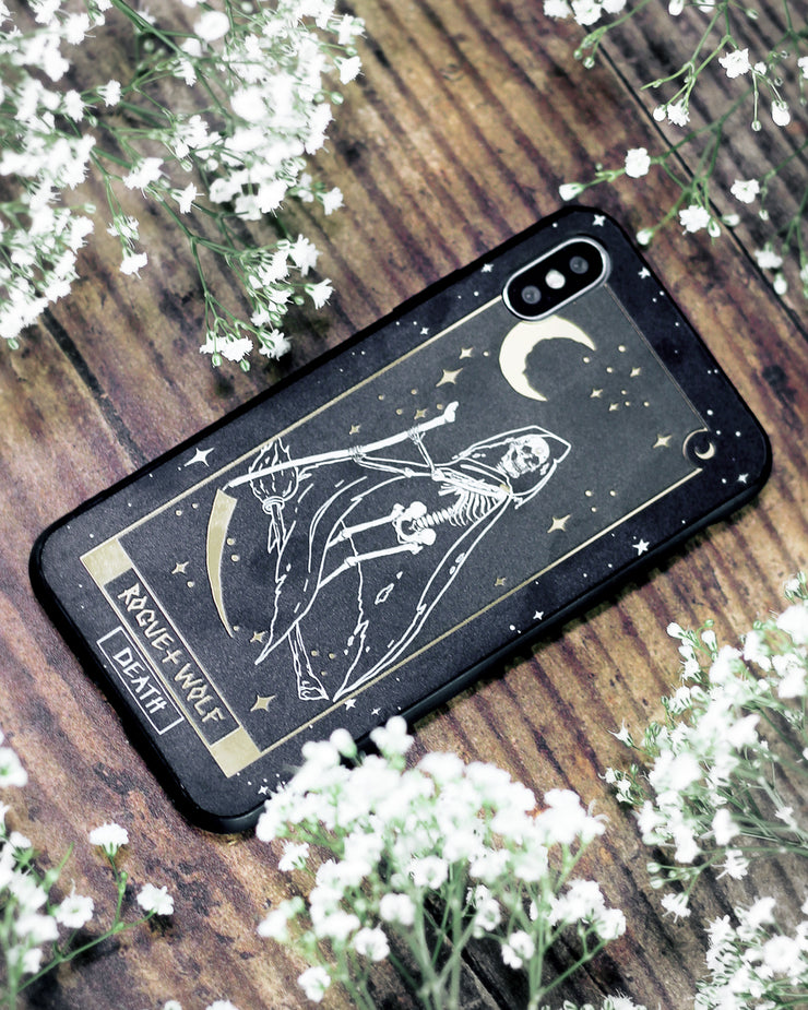 Death Tarot Phone Case - Mirror Gold Details