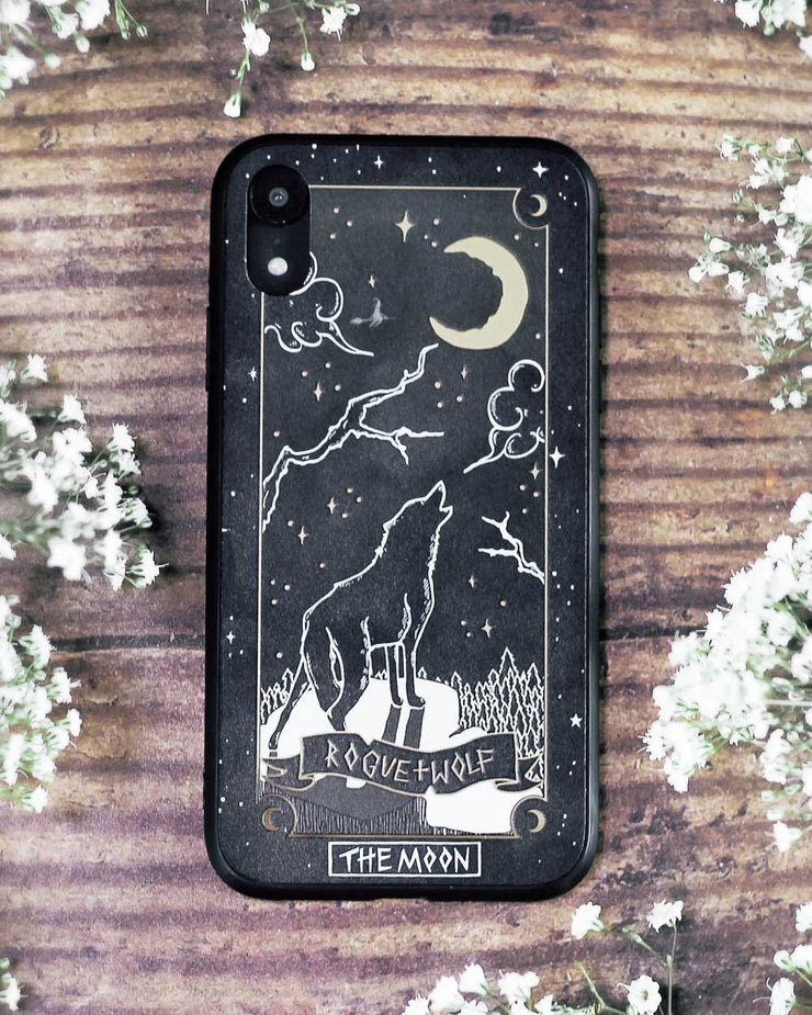The Moon Tarot Phone Case - Mirror Gold Details