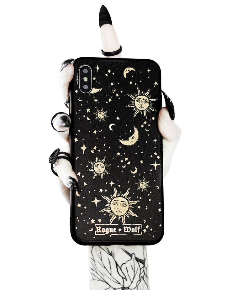 Celestial Phone Case - Mirror Gold Details