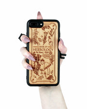 Herbology - Engraved White Maple Wood Phone Case