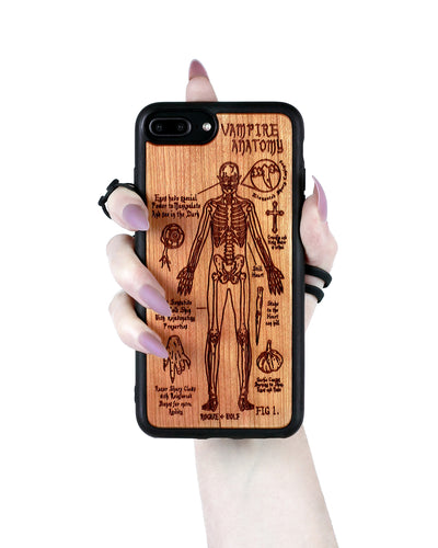 Vampire Anatomy - Engraved Cherry Wood Phone Case