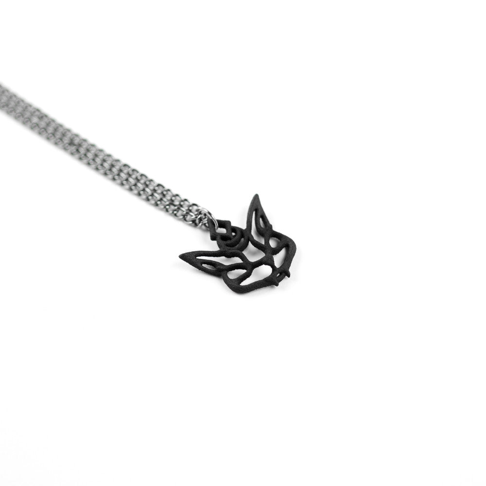 Cat Familiar Necklace in Black