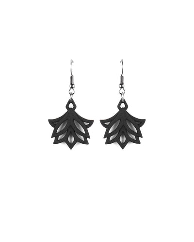 Lotus Blossoms Earrings in Black