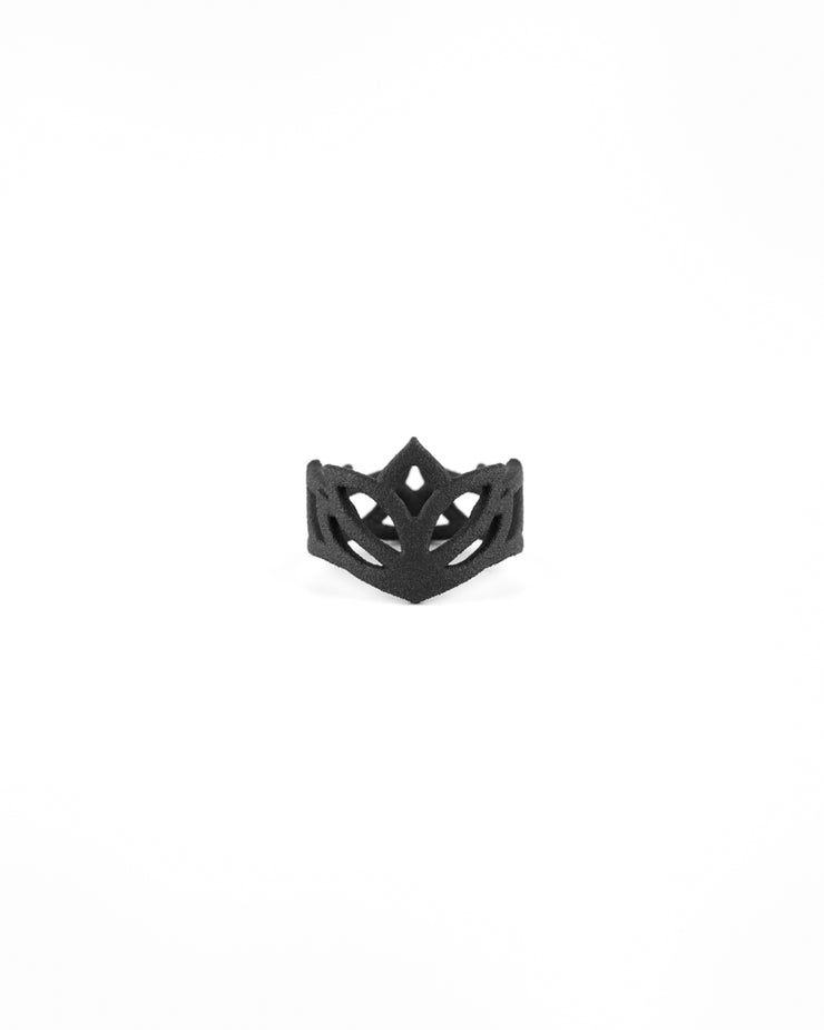 Awakening Mandala Ring in Black
