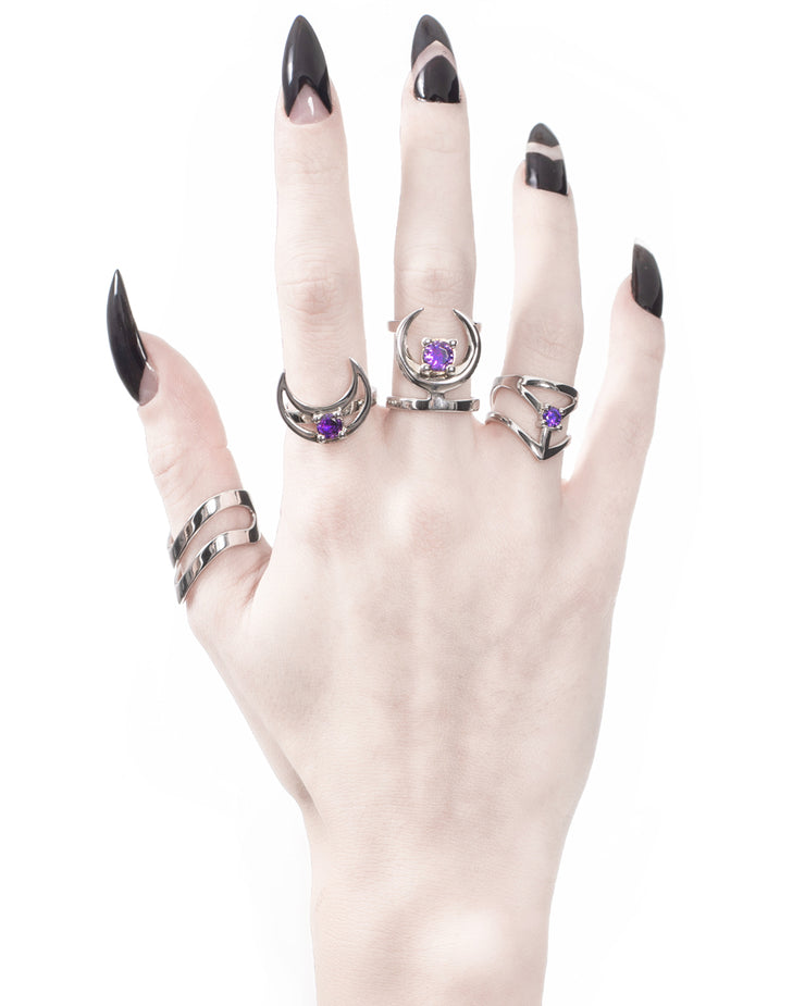 Affection Sterling Silver Midi Ring US2 to US6