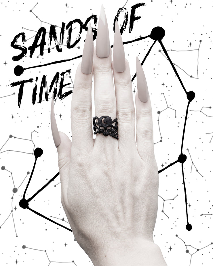 Sands Of Time Ring in Black