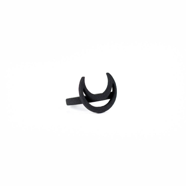 Rhea Ring in Black