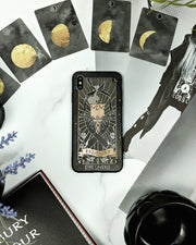 The Lovers Tarot Phone Case - Mirror Gold Details