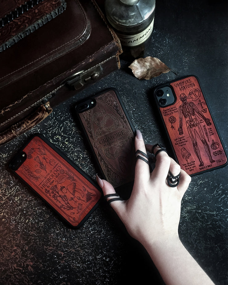 Herbology - Engraved Rose Wood Phone Case