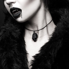 Blood Junkie Choker in Black