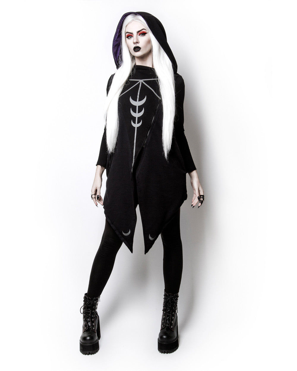 Moon Seer Cardigan with oversized hood