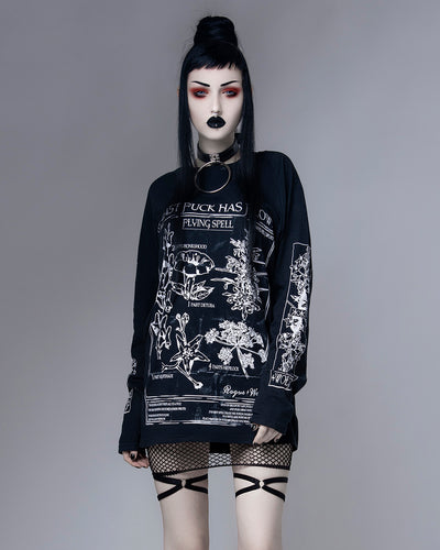 My Last F*ck Has Flown Flying Spell - Long Sleeve Tee