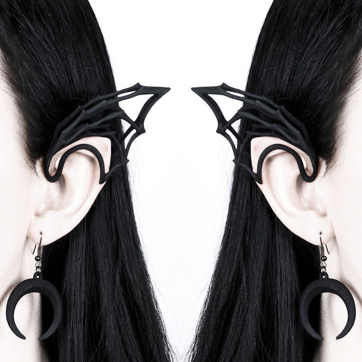Bat Wing Elf Ear in Black