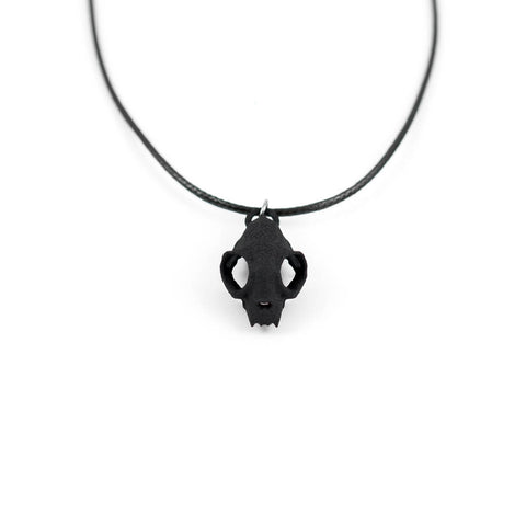 Cat Skull Choker in Black
