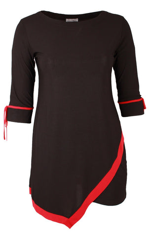 Black and Red Two Toned Tunic