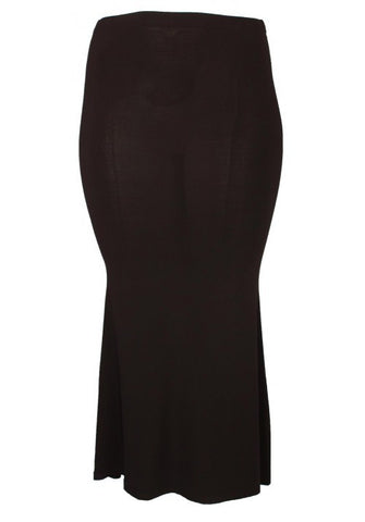 Magna Long Black Fitted Skirt