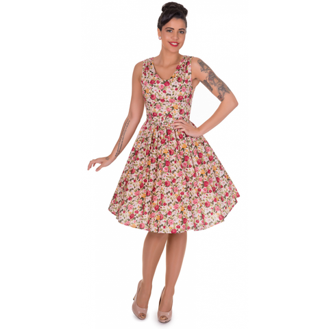 Dolly & Dotty Pink Petal Swing Floral Dress