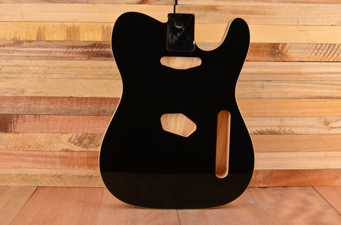 Gloss Black Cream Bound Rockaudio Vintage Series Ash Guitar Body