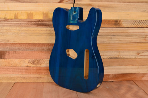 Transparent Blue Rockaudio Vintage Series Paulownia Guitar Body