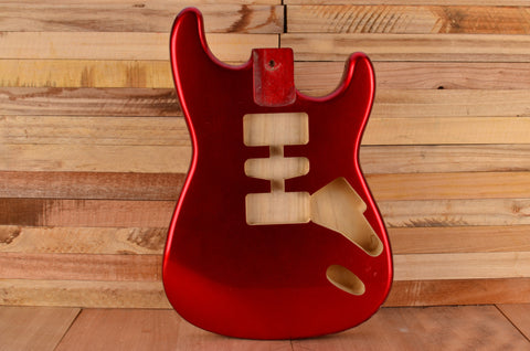 Candy Apple Red Rockaudio Standard Series Ash Hardtail Guitar Body