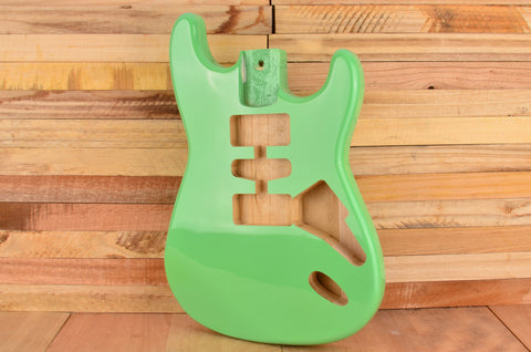 Surf Green Rockaudio Standard Series Paulownia Hardtail Guitar Body