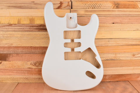 Olympic White Rockaudio Standard Series Ash Hardtail Guitar Body
