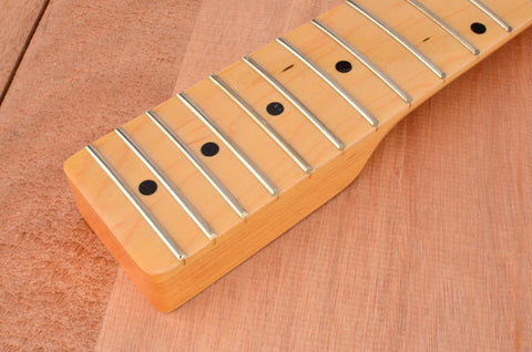 Vintage Series Rockaudio Gloss Finished Guitar Neck With Maple Fingerboard