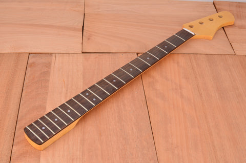 Rockaudio Gloss Finished Bass Guitar Neck With Rosewood Fingerboard