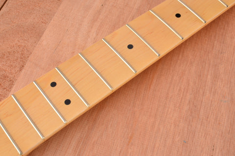 Rockaudio Gloss Finished Bass Guitar Neck With Maple Fingerboard
