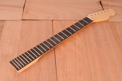 Vintage Series Rockaudio Satin Finished Guitar Neck With Rosewood Fingerboard & Abalone Dots