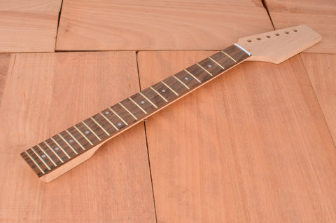 Standard Series Rockaudio Unfinished Paddle Guitar Neck With Rosewood Fingerboard