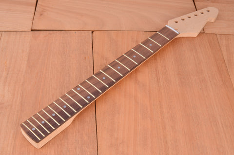 Standard Series Rockaudio Unfinished Guitar Neck Rosewood Fingerboard