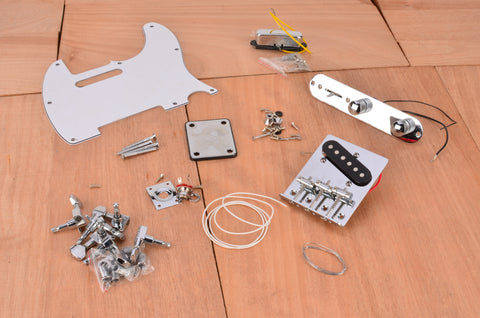 Basic Vintage Series Complete Assembly Kit With White PIckguard