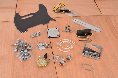 Premium Vintage Series Complete Assembly Kit With Black PIckguard