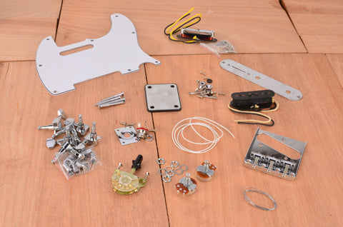 Premium Vintage Series Complete Assembly Kit With White PIckguard