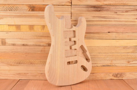 Unfinished Rockaudio Standard Series Ash Floating Tremolo Guitar Body