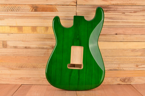 Transparent Green Rockaudio Standard Series Paulownia Floating Tremolo Guitar Body