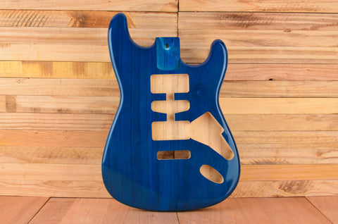 Transparent Blue Rockaudio Standard Series Paulownia Floating Tremolo Guitar Body
