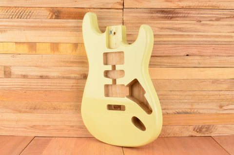 Vintage Cream Rockaudio Standard Series Paulownia Floating Tremolo Guitar Body